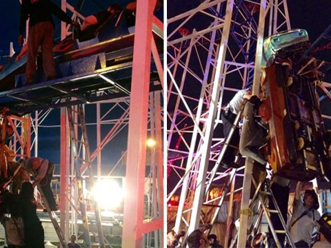 Two people thrown from roller coaster after it derails at amusement park