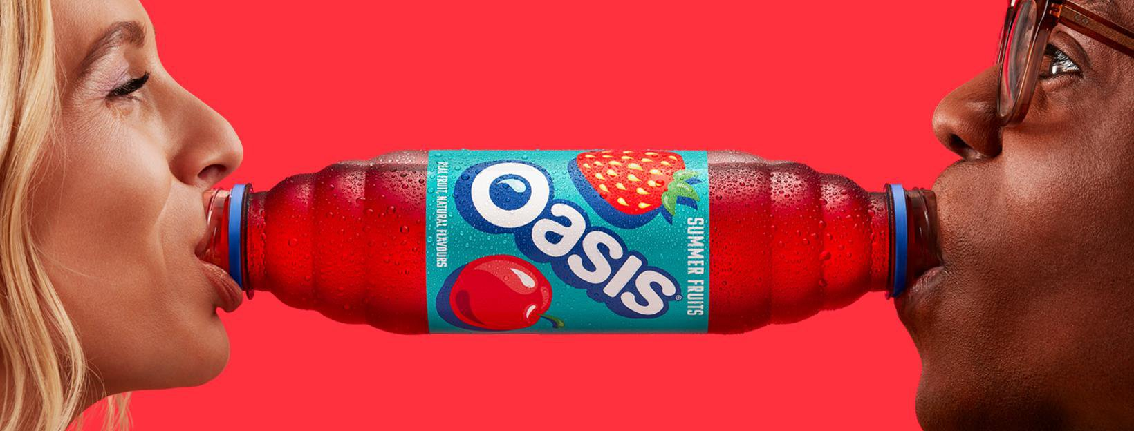 Oasis's new advert for a double-ended bottle looks a bit rude