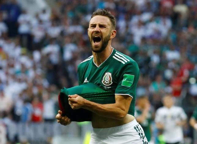 Soccer Football - World Cup - Group F - Germany vs Mexico - Luzhniki Stadium, Moscow, Russia - June 17, 2018 Mexico's Miguel Layun reacts REUTERS/Kai Pfaffenbach