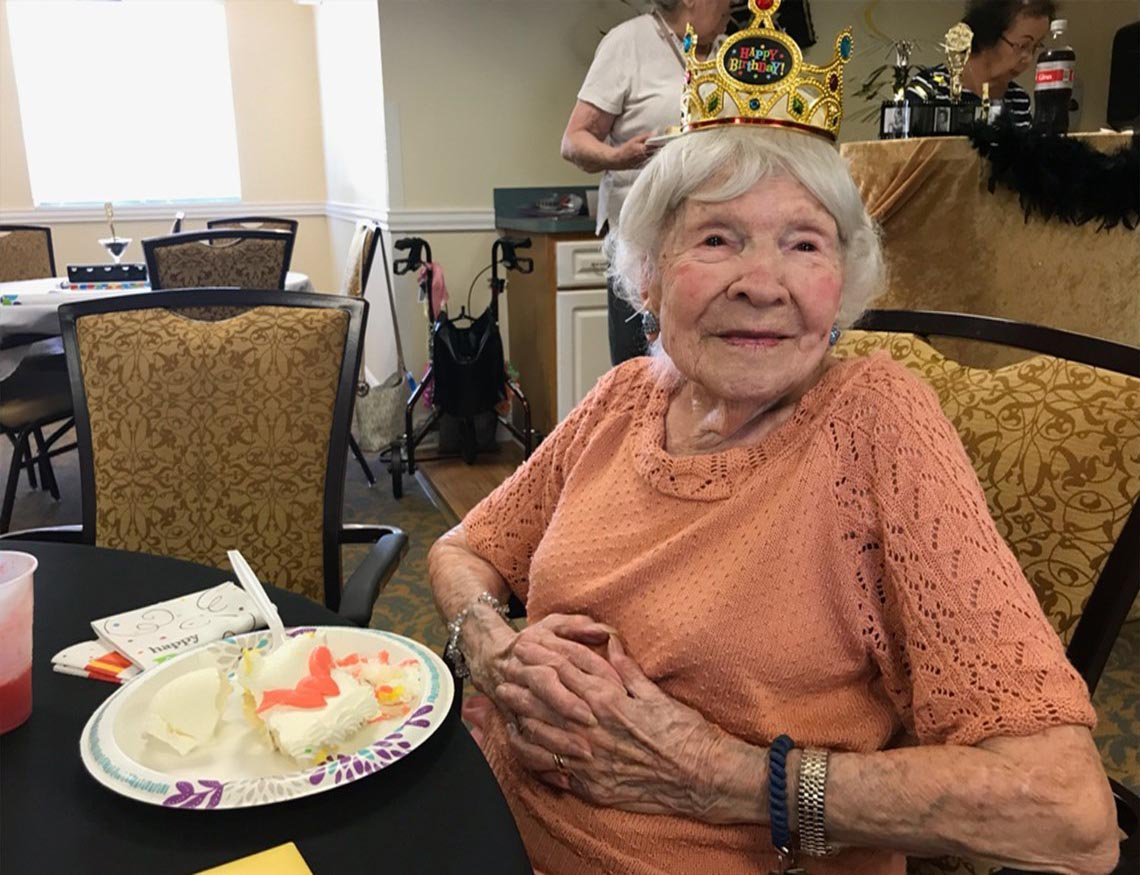 (Picture: WTSP) LIVE NOW | Helen Granier of Palm Harbor is celebrating her 105th birthday at the Coral Oaks Independent Living Facility. Happy birthday, Helen! wtsp.com
