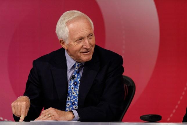 Programme Name: Question Time - TX: n/a - Episode: n/a (No. Generics) - Picture Shows: David Dimbleby - (C) Richard Lewisohn - Photographer: Richard Lewisohn