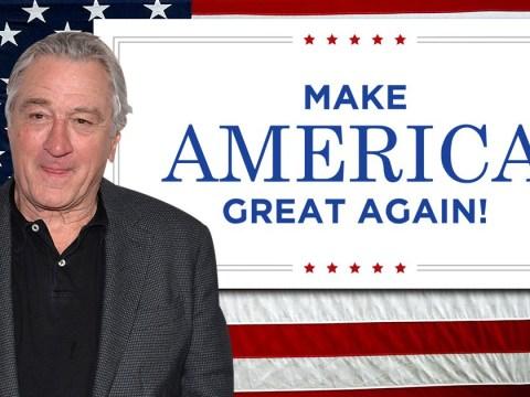 Trump fan protests Robert de Niro's play with MAGA banner – but de Niro isn't there