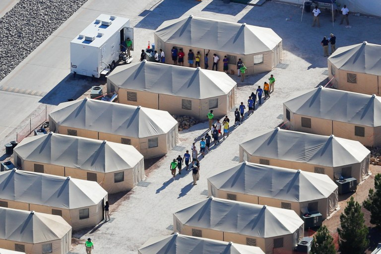 The camps where children are being held after being ...