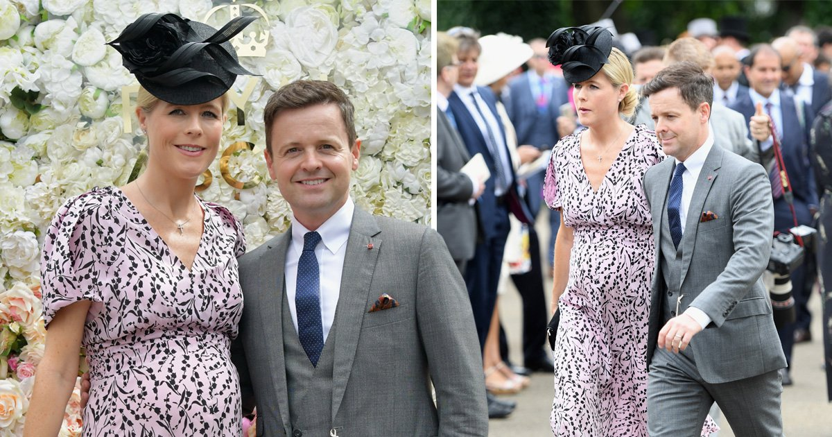 Declan Donnelly and pregnant wife Ali Astall take in Ascot as Ant McPartlin's 'new romance' with Anne-Marie Corbett emerges