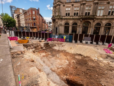 Workers discover perfectly preserved 'Saxon' road under the streets of Birmingham