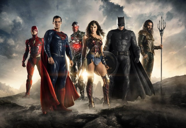 No Merchandising. Editorial Use Only. No Book Cover Usage Mandatory Credit: Photo by Moviestore/REX/Shutterstock (9224471f) Ezra Miller, Henry Cavill, Ray Fisher, Gal Gadot, Ben Affleck, Jason Momoa Justice League - 2017