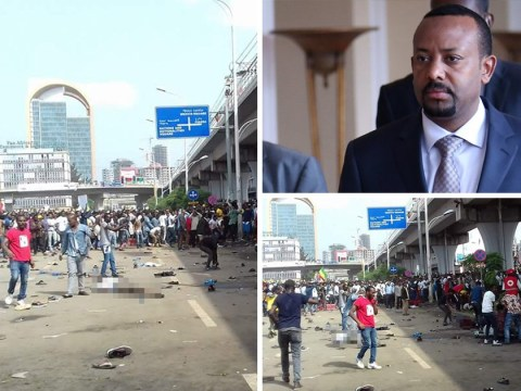 At least 83 injured after explosion hits Ethiopia rally for new prime minister