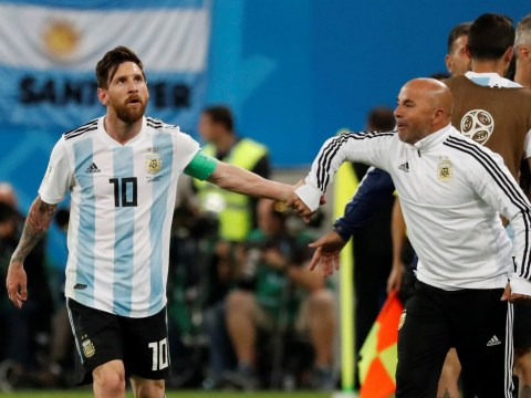 Argentina boss Jorge Sampaoli asks Lionel Messi for permission to bring Sergio Aguero on