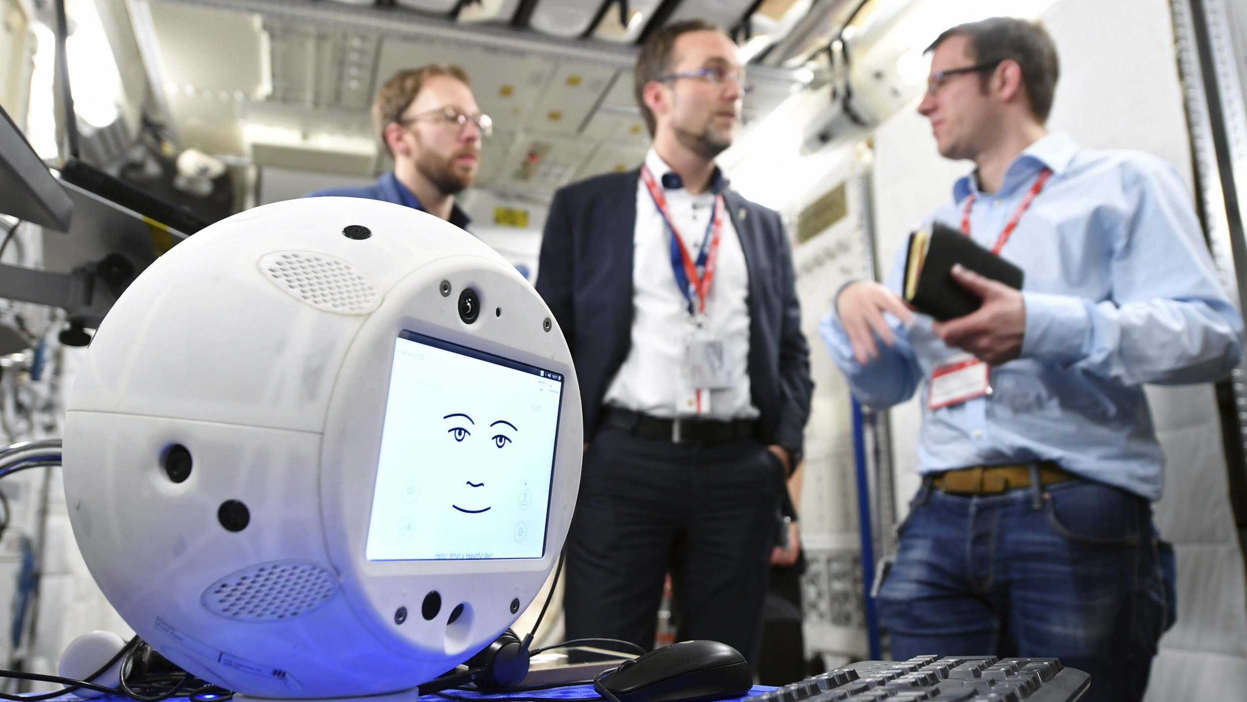 A creepy robotic 'flying brain' is about to be let loose on the International Space Station