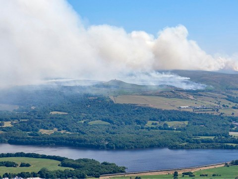 Fire crews declare 'major incident' as two wildfires merge into one huge fire