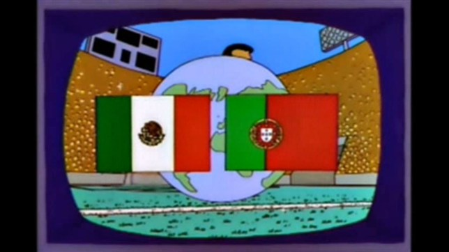 Mexico and Portugal match on The Simpsons
