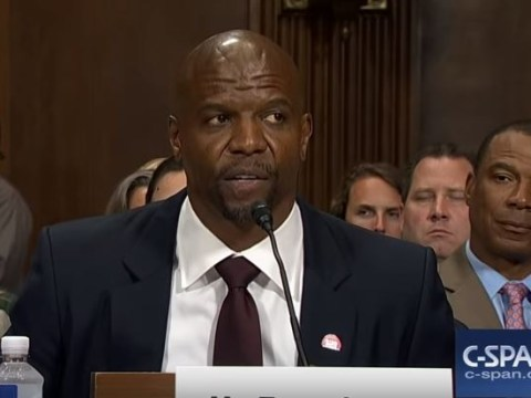 Terry Crews explains why he didn't fight back during alleged sexual assault in emotional speech to US Senate