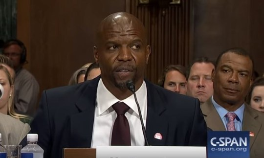 Terry Crews at US Senate hearing