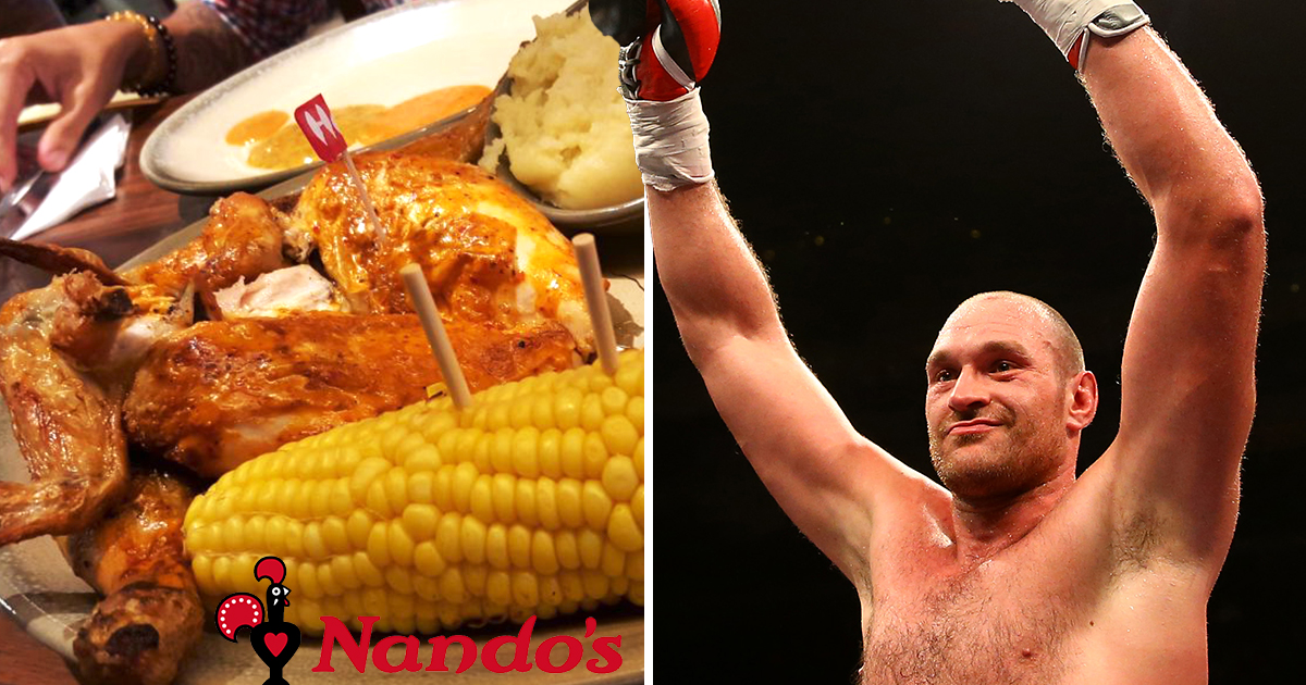 Tyson Fury 'buys Nando's for entire restaurant costing £700' ahead of comeback fight
