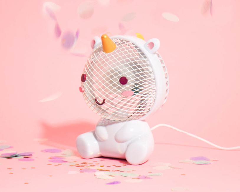 This unicorn desk fan will blow all your worries away