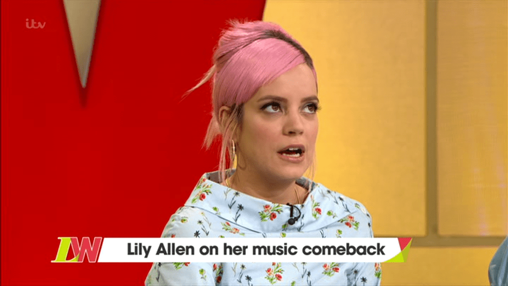 Lily Allen confirmed her divorce from Sam Cooper on Loose Women (Picture: ITV)