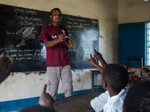 My village and school were destroyed when war hit the Democratic Republic of Congo – but that didn't stop me teaching