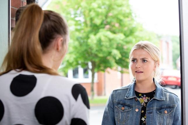 Bethany and Kayla row in Coronation Street