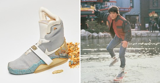 the latest a2629 8b999 Michael J Fox s original Nike Air Mags from Back To The Future II sells for   100k