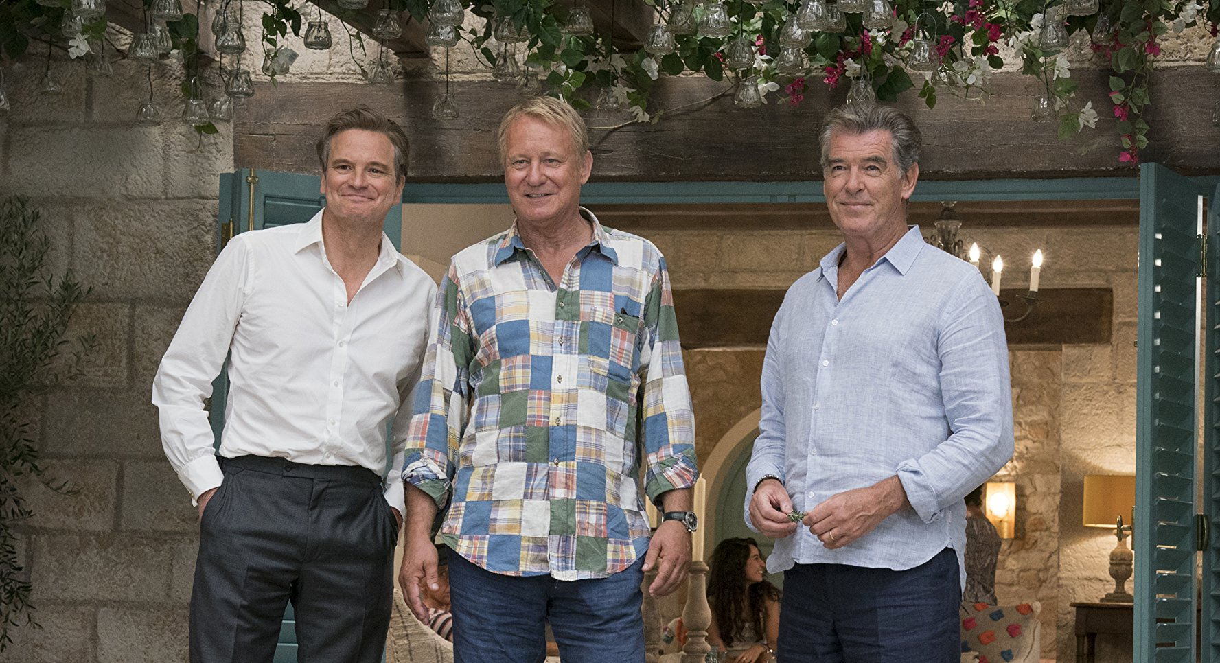 Yep, that's a sock down Colin Firth's pants in the grand finale of Mamma Mia! Here We Go Again