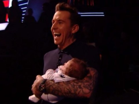 Danny Jones melts hearts as he brings baby Cooper to meet The Voice UK judges