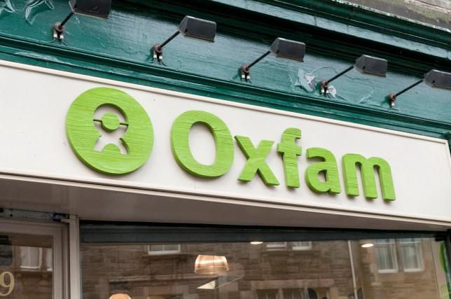 Oxfam shop sign, UK