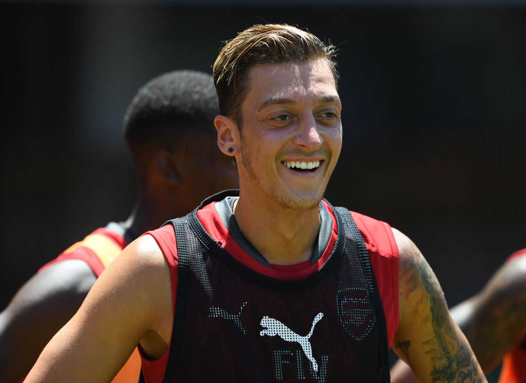 Olivier Giroud reveals what Mesut Ozil used to say in Arsenal training to wind him up