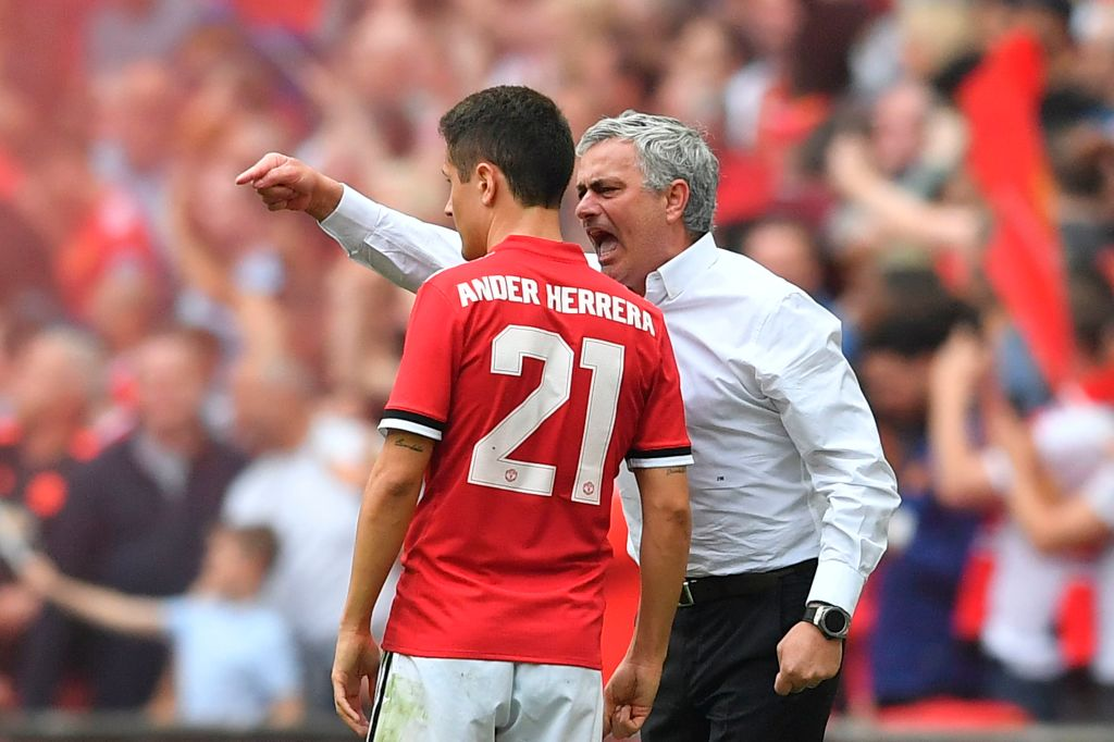 Ander Herrera reacts to Jose Mourinho's pre-season meltdown