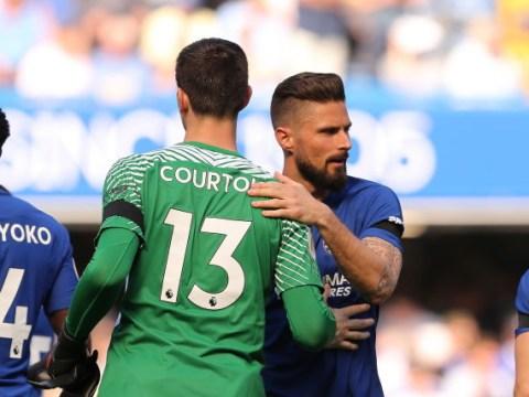 Olivier Giroud snubs Chelsea teammate Thibaut Courtois when naming best World Cup goalkeeper