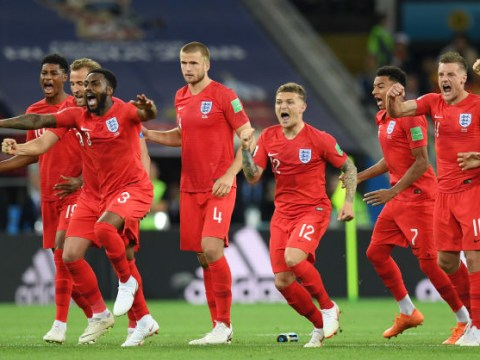 Eric Dier's priceless reaction as Jordan Pickford saves to set up winning penalty against Colombia