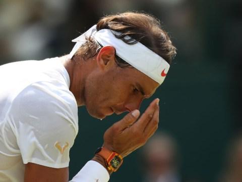 Rafael Nadal reacts to bizarre pre-match time violation at Wimbledon