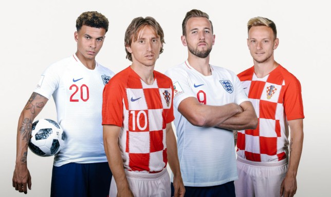 (from l to r) Dele Alli, Luka Modric, Harry Kane and Ivan Rakitic