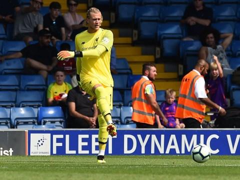 Under-pressure Liverpool goalkeeper Loris Karius jeered during Bury game
