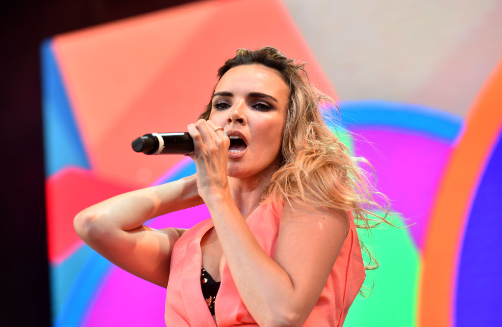 Nadine Coyle performing