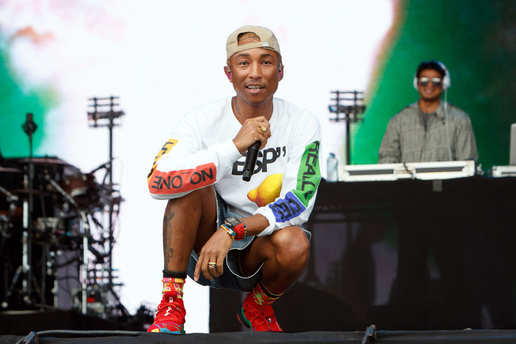 Pharrell Williams calls out 'unwanted visitor' Donald Trump in politically-charged N.E.R.D set at Lovebox
