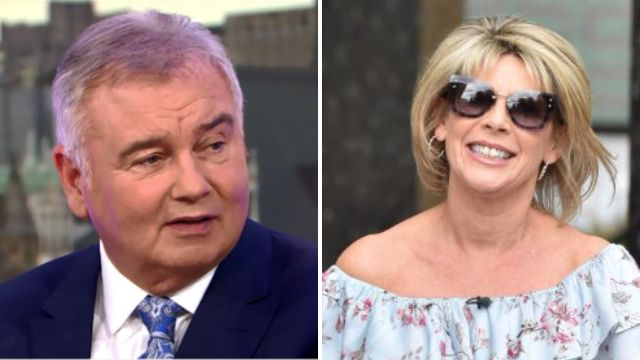 Eamonn Holmes is not a happy man as Ruth Langsford properly 'mugs him off' on GMB