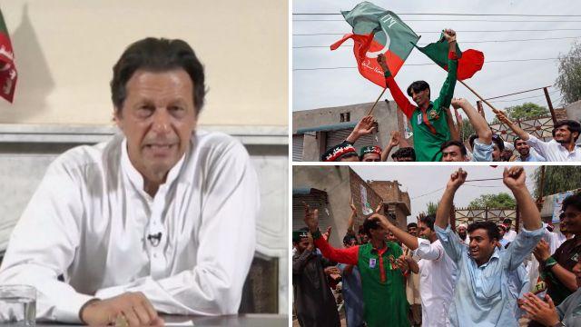 Imran Khan declares victory in Pakistan general election