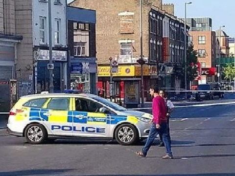 Two men shot another run over in drive-by shooting in east London