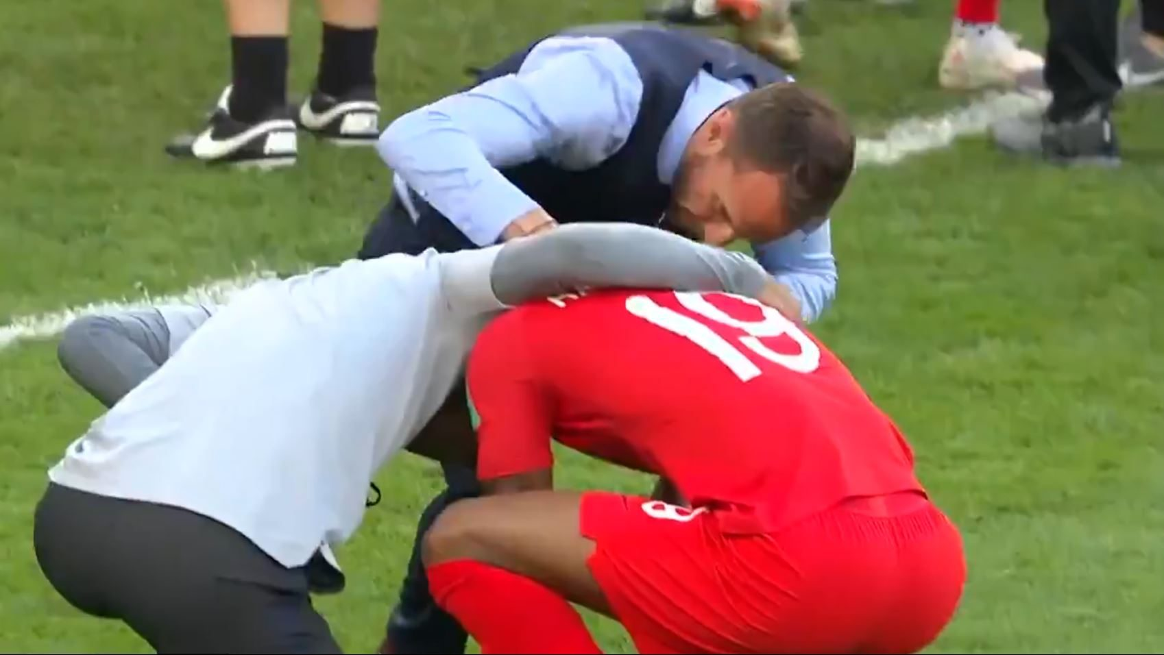 Marcus Rashford in tears after England beat Sweden to reach World Cup semi-final