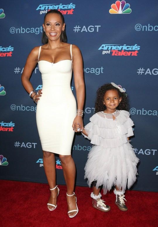 Mel B with daughter Angel Iris Murphy Brown in 20016