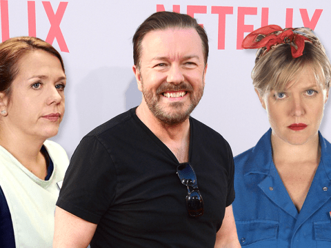Ricky Gervais reunites with Derek and Extras co-stars Kerry Godliman and Ashley Jensen in Netflix's After Life