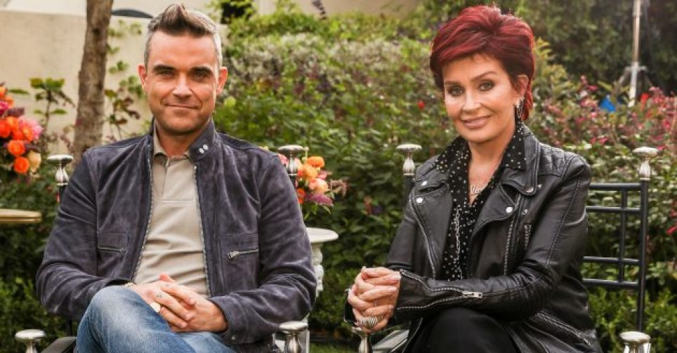 Robbie Williams and Sharon Osbourne on The X Factor