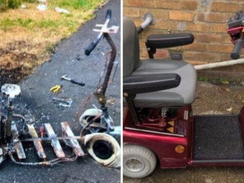 Thieves steal 98-year-old woman's mobility scooter before smashing it to pieces