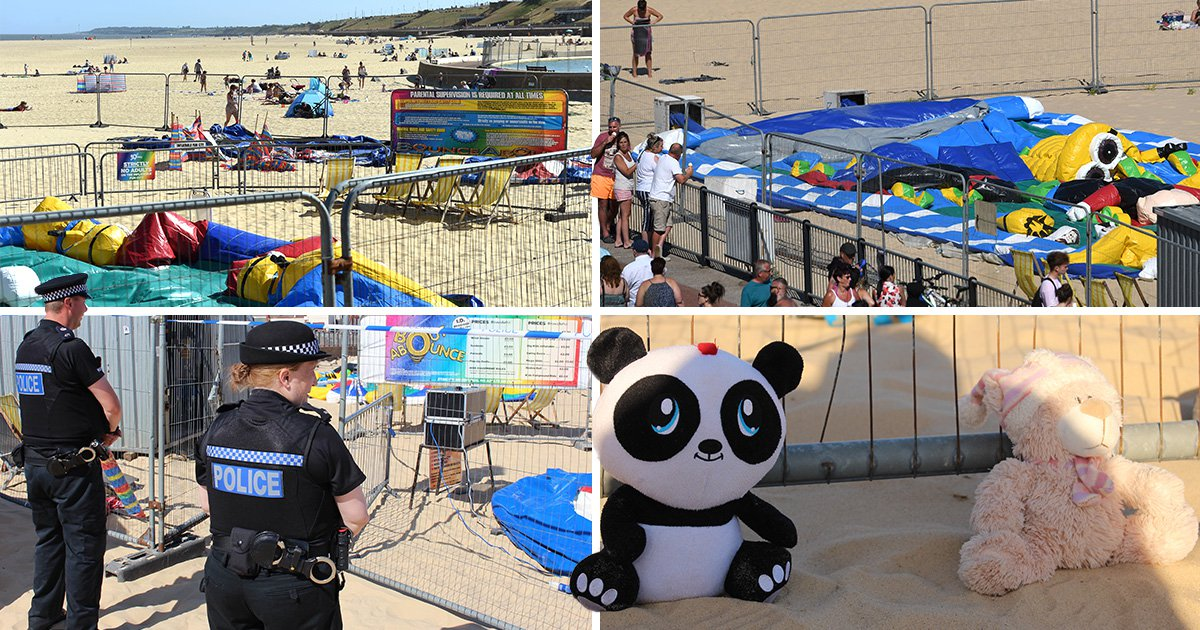 Beachgoers and lifeguards battled in vain to save girl thrown from bouncy castle