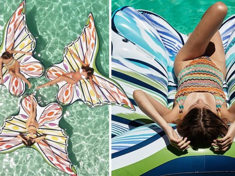 This Missoni x Fun Boy butterfly pool float is so extra