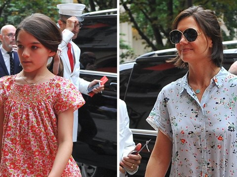 Katie Holmes is all smiles with daughter Suri amid Jamie Foxx split rumours
