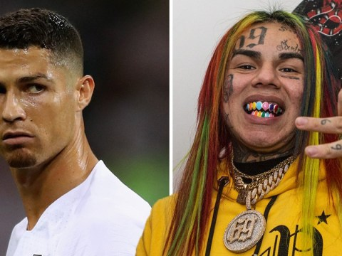 Tekashi69 says he's such a good goalie even Cristiano Ronaldo can't score on him