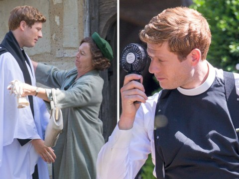 James Norton cools off as he gets to work on his final series of Grantchester