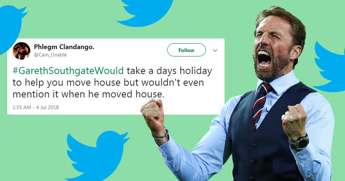 Gareth Southgate's nice guy heroics inspires hilarious Twitter movement