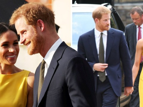 Prince Harry and Meghan are back to holding hands at Commonwealth reception